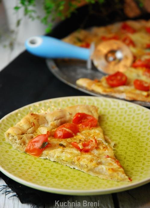 Tarta Z Mąki żytniej Z Pomidorkami Czosnkiem I Oscypkiem