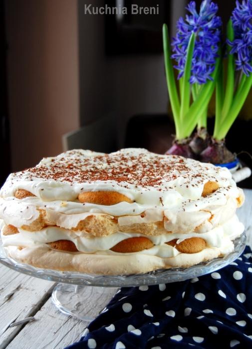 tort bezowy tiramisu