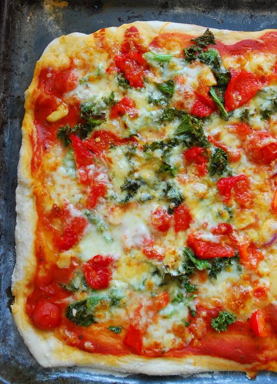 pizza z jarmużem